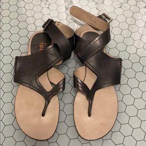 Levity black sandals.